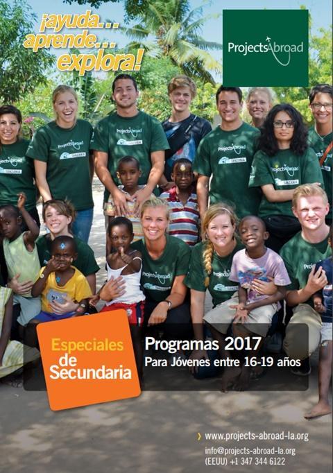 Página principal folleto voluntariado para jóvenes