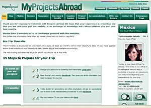MyProjectsAbroad screen shot