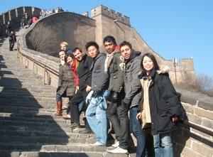 Volunteers abroad at the Great Wall