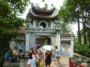 Ngoc Son Temple in Vietnam, South-east Asia
