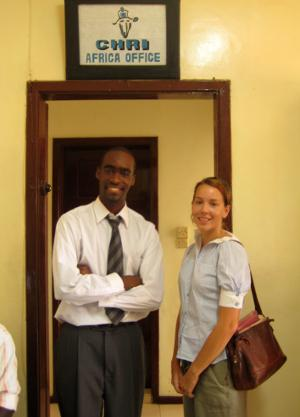 Human rights interns in Ghana