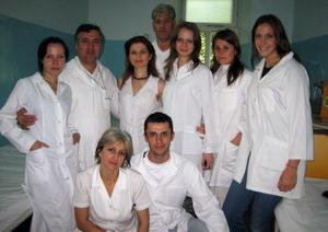 Medical volunteer with medical staff in Moldova