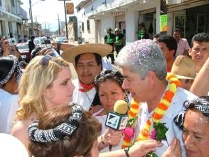 Volunteer interviewing in Mexico
