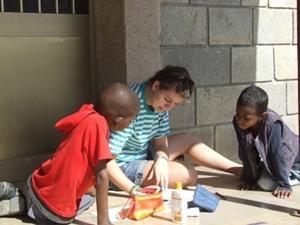 Voluntario durante proyecto de Trabajo Social en Etiopía