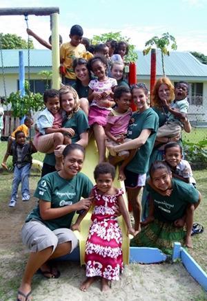 Voluntarias en el Proyecto de Trabajo Social en Fiyi