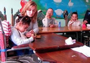Work with children in Morocco