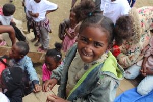 Niña en Madagascar