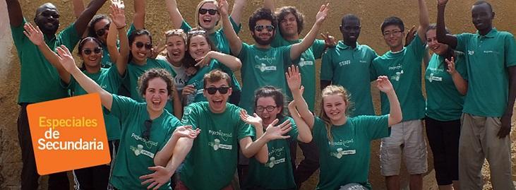 Grupo de voluntarios de Projects Abroad en los Especiales de Secundaria
