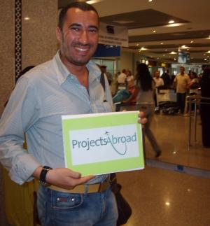 Projects Abroad Staff Member meets Volunteers in Casablanca, Morocco