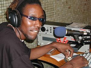 Radio announcer in Ghana