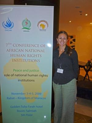 Human rights interns in Morocco