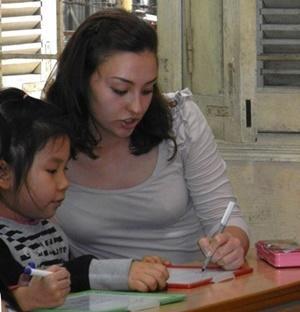 Una voluntaria del proyecto de Terapia del Habla en Projects Abroad