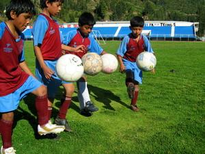 Soccer players in Peru