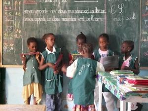 School kids in classroom in Senegal