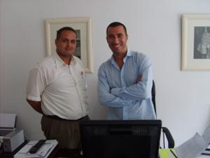 Staff at office in Morocco